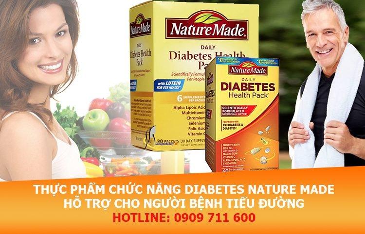 Thực phẩm chức năng bổ sung vitamin cho người bệnh tiểu đường Diabetes Nature Made dạng gói tiện dụng