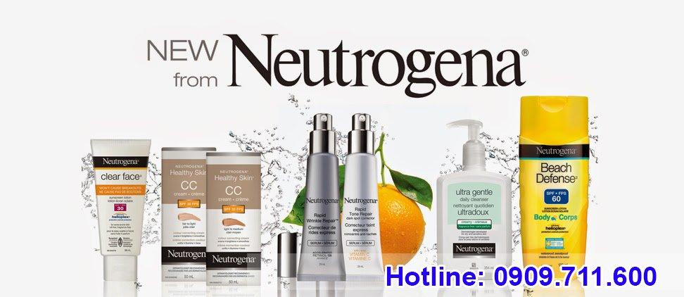 Neutrogena nổi tiếng đa dạng về chủng loại và giá cả