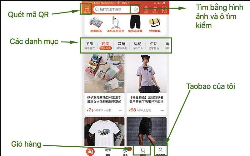 cách đặt hàng taobao trên điện thoại