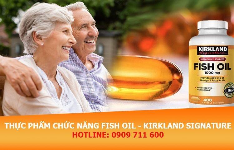 Viên uống Fish Oil của Kirkland Signature bảo vệ hệ tim mạch mỗi ngày