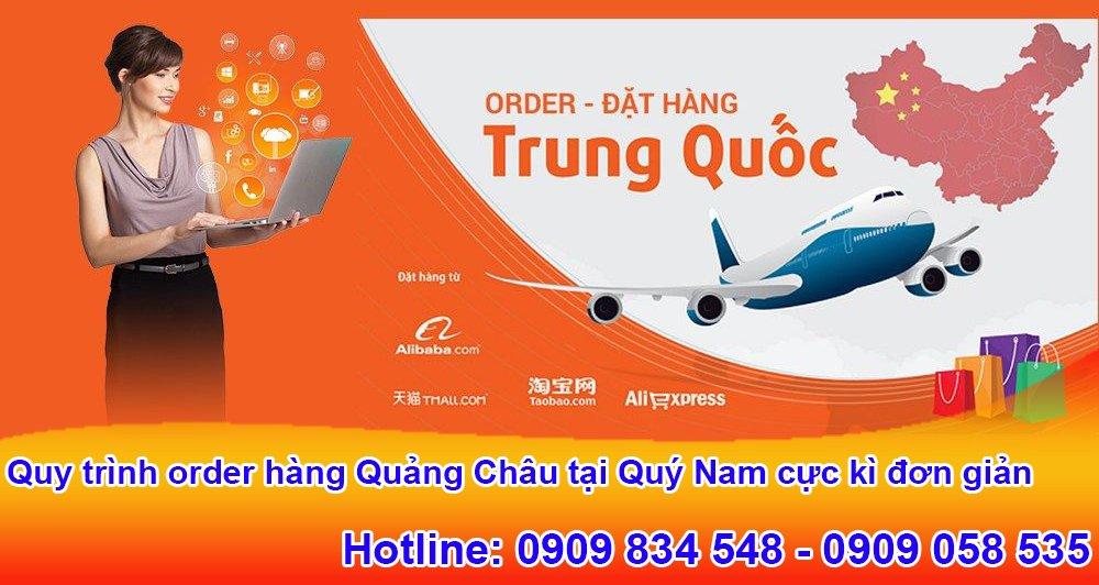 Quy trình order hàng Quảng Châu tại Quý Nam cực kì đơn giản chỉ với 4 bước