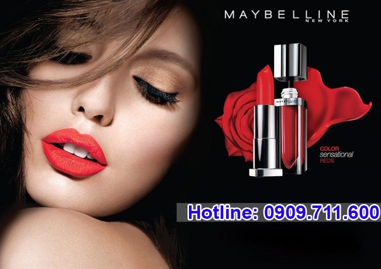 Maybelline nổi tiếng với nhiều loại đồ trang điểm giá bình dân