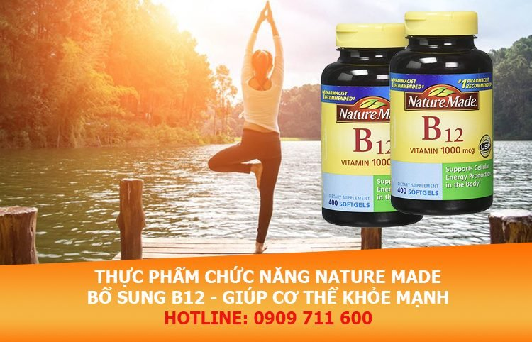 Thực phẩm chức năng dạng viên Nature Made bổ sung vitamin B12 cho cơ thể
