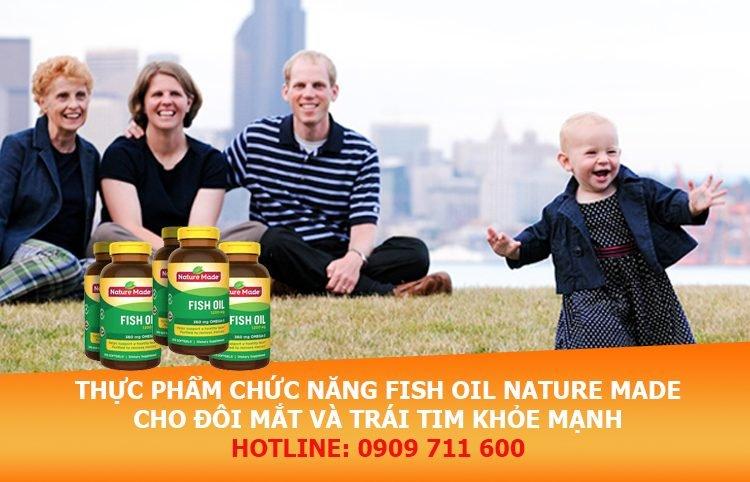 Thực phẩm chức năng Fish Oil Nature Made cho đôi mắt sáng và trái tim khỏe mạnh hơn