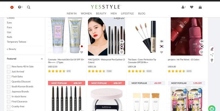 trang web bán mỹ phẩm hàn quốc uy tín