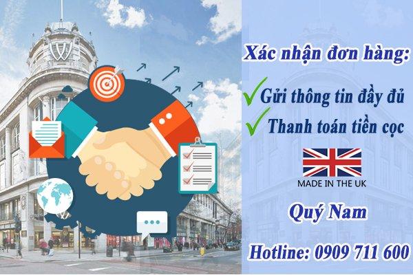 Khách hàng cần gửi thông tin đầy đủ và thanh toán tiền cọc để xác nhận đơn hàng mua hộ