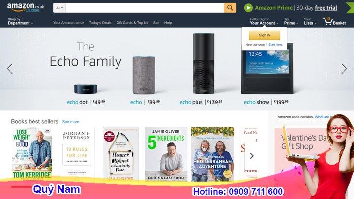Quý Nam nhận mua hộ hàng anh trên Amazon