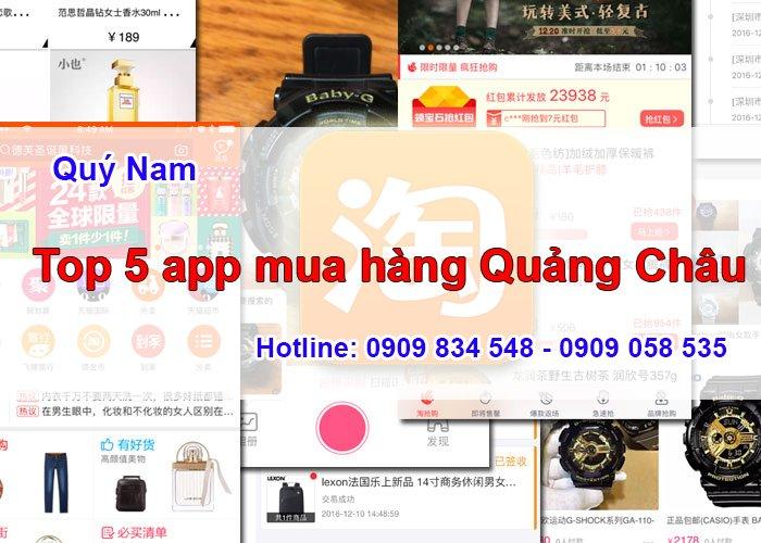 Top 5 app mua hàng Quảng Châu