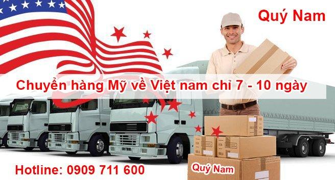 Quý Nam vận chuyển hàng Mỹ về Việt Nam từ 7 10 ngày