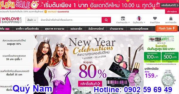 Các trang web mua sắm trực tuyến Thái Lan cho phép người mua đặt hàng với số lượng