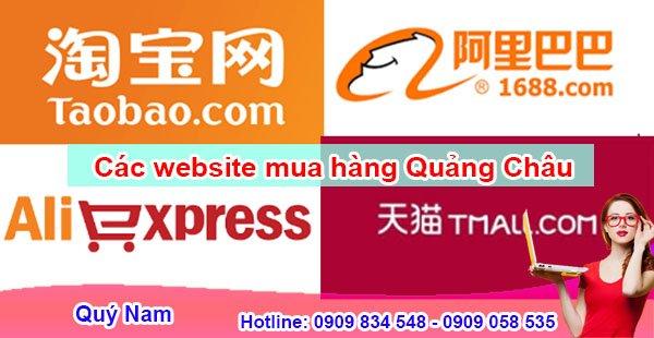 Đặt hàng Quảng Châu qua các trang thương mại điện tử