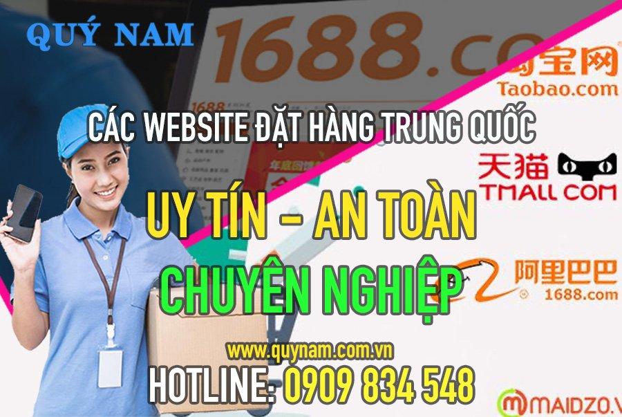 Các website online mua hàng đặt hàng Trung Quốc uy tín như Taobao, Alibaba, Tmall...
