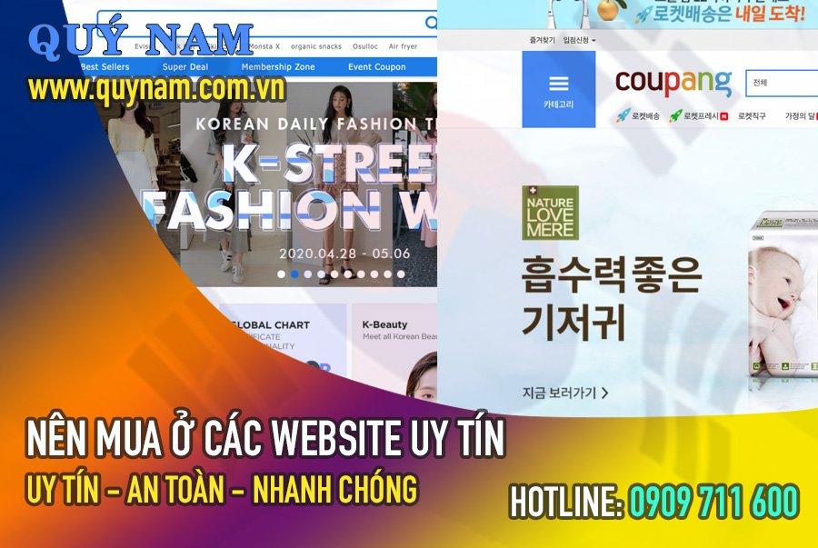 Mua hàng tại các website của Hàn Quốc uy tín sẽ đảm bảo chất lượng hàng hóa