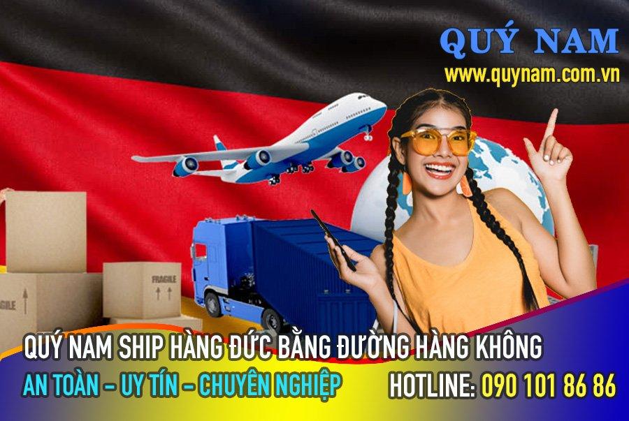 Quý Nam ship hàng Đức về Việt Nam bằng đường hàng không