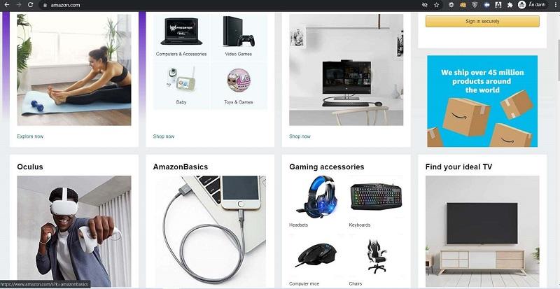 website mua hàng mỹ