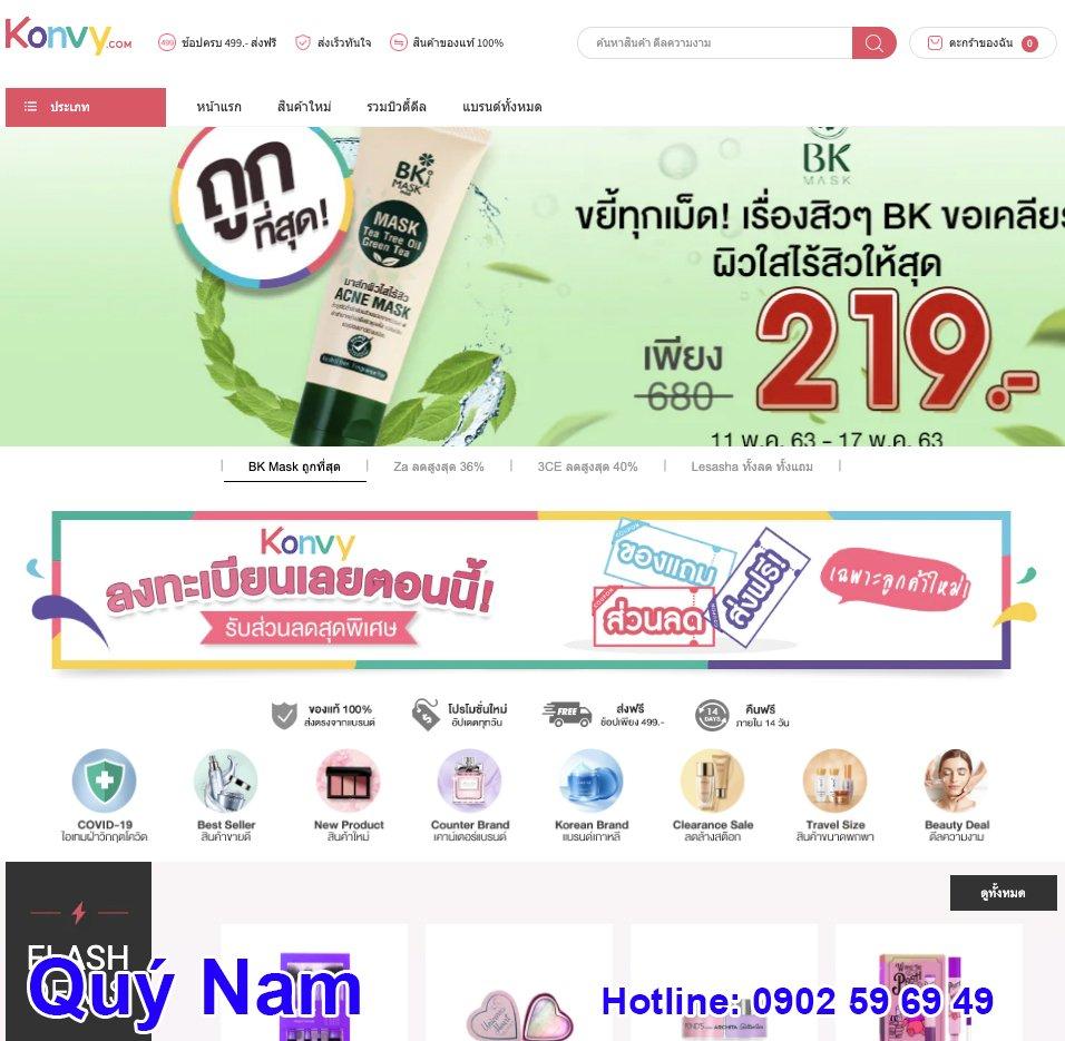 Trang web Konvy Thái Lan