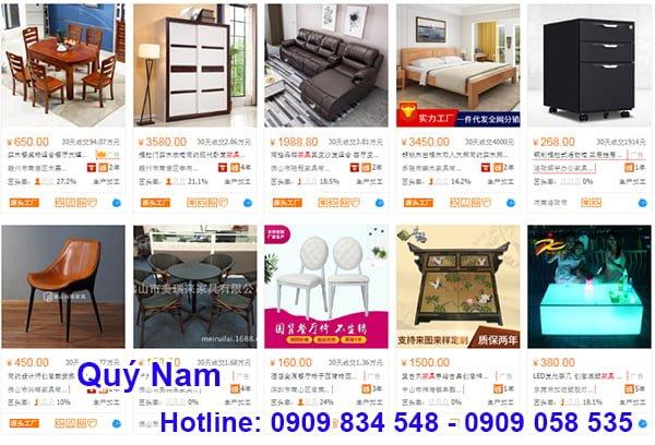 Các sản phẩm nội thất được cung cấp rất đa dạng