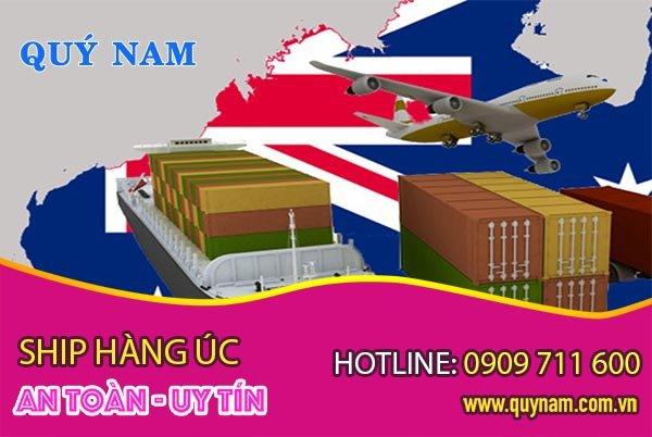 Ship hang từ Úc về Việt Nam