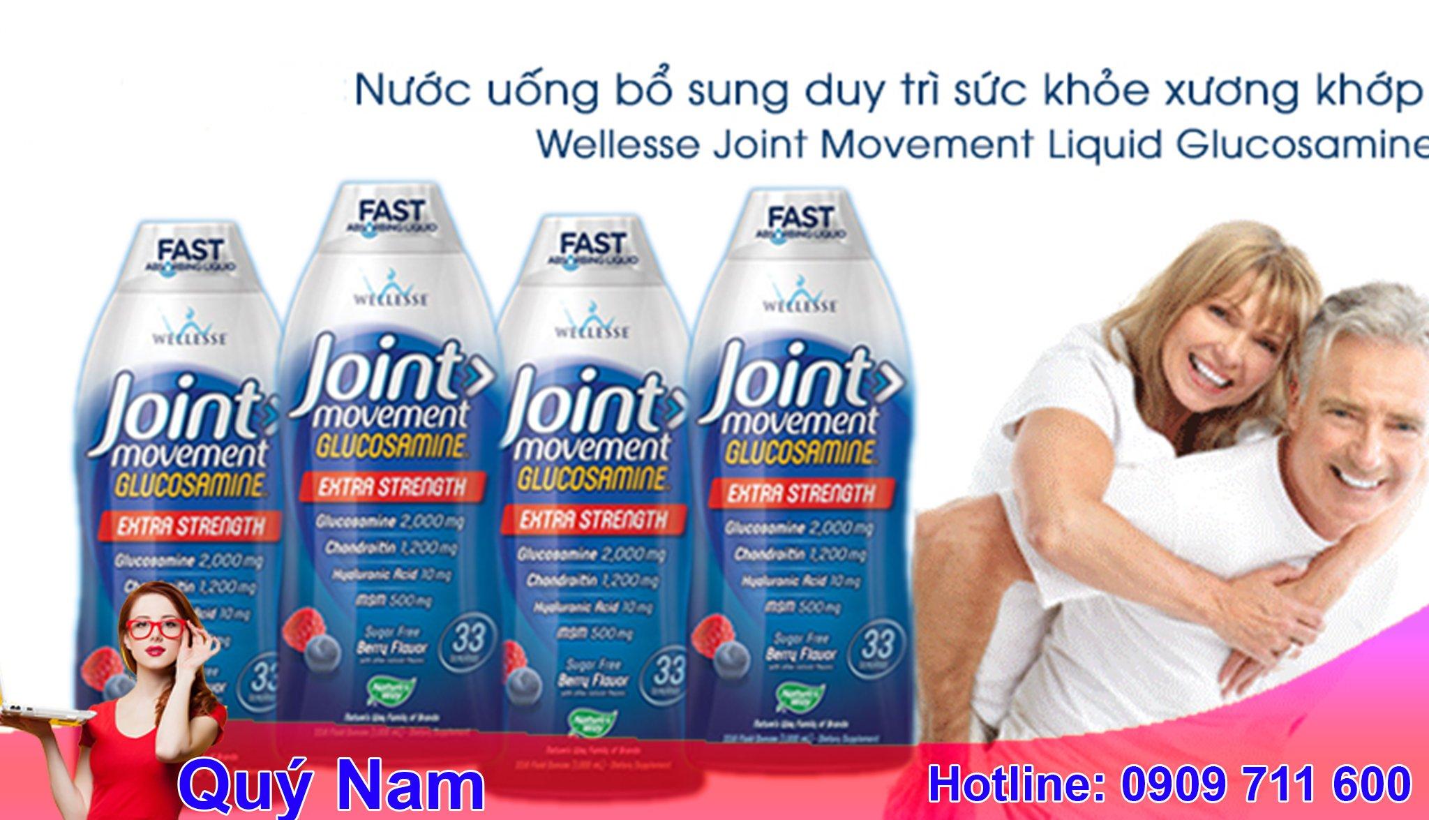 Wellesse joint movement glucosamine 1000ml là thực phẩm chức năng dạng nước