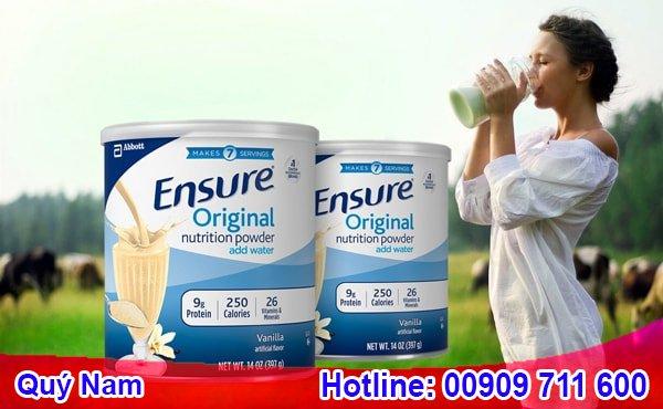Sữa Ensure Mỹ xách tay phù hộ với nhiều đối tượng sử dụng
