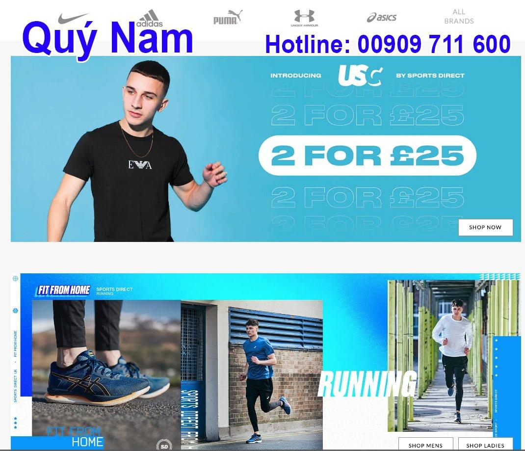 Trang web chuyên bán những sản phẩm về đồ thể thao