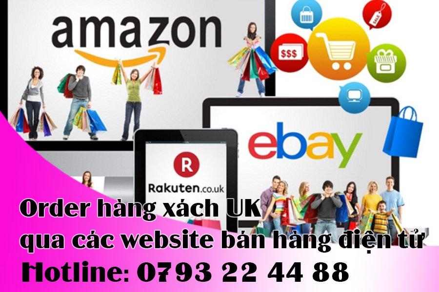 Order hàng xách UK qua các website bán hàng điện tử