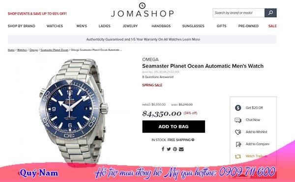 Đồng hồ Jomashop