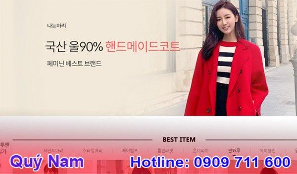 Web order quần áo Hàn Quốc