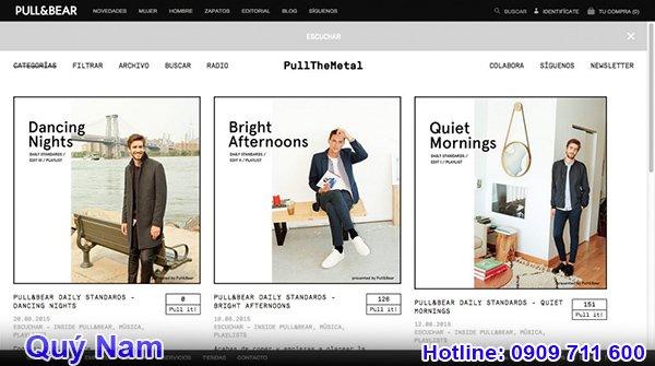 Bạn có thể tìm kiếm sản phẩm mong muốn trên website Pull and Bear