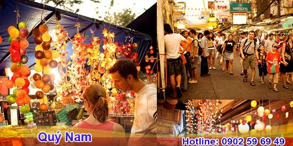 Chợ Thái Lan đông đúc vào các phiên họp trong năm