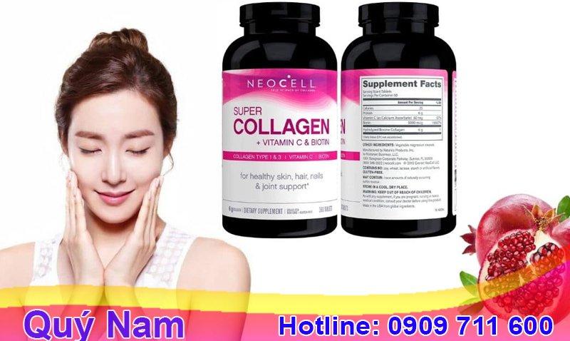 Dịch vụ order collagen C của Mỹ - Quý Nam