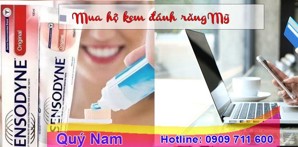 Quý Nam nhận mua hộ kem đánh răng Mỹ về Việt Nam