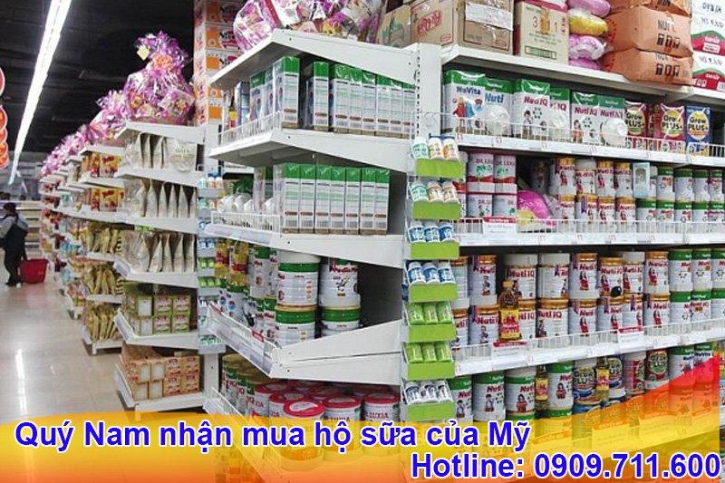 Bạn có thể mua sữa của Mỹ trực tiếp tại cửa hàng, siêu thị