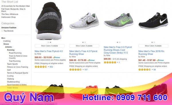Trang web bán giày ở Mỹ