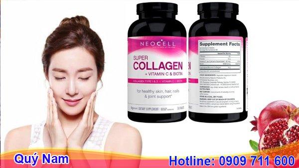 Viên uống đẹp da của Mỹ Super Collagen Neocell +C 6000mg