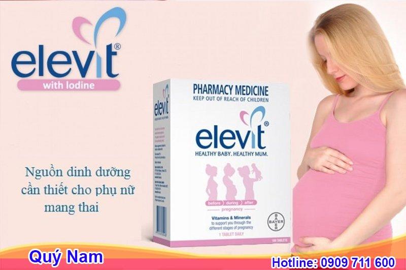 Elevit là vitamin dành cho bà bầu nổi tiếng được bán tại Mỹ, Nhật, Đức...