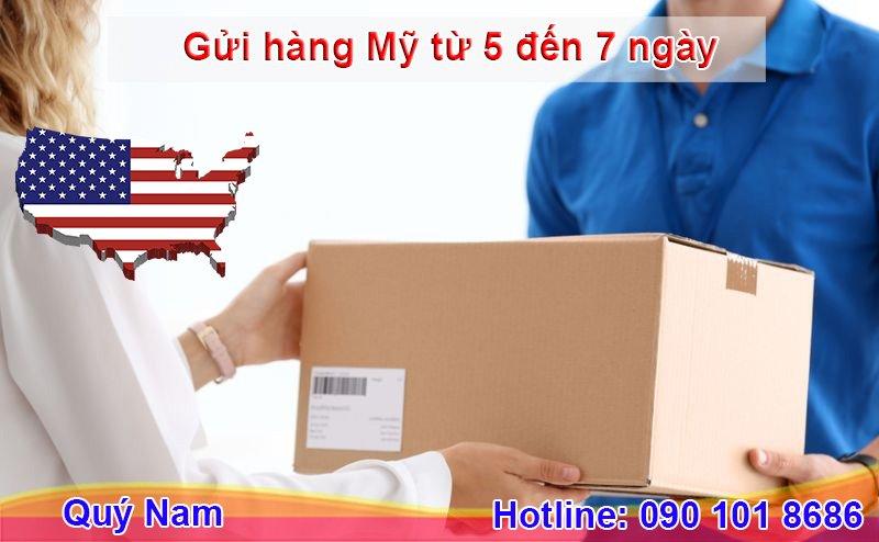 Thời gian gửi hàng đi Mỹ có thể mất từ 3 – 5 ngày hoặc 5 – 7 ngày