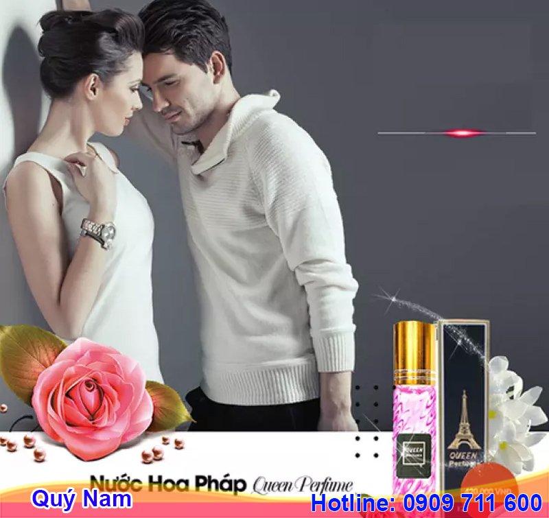Nước hoa Pháp Queen Perfume có mùi thơm nhẹ nhàng, quyến rũ