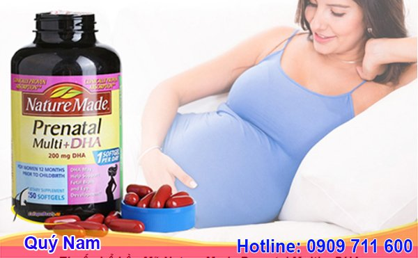 Thuốc bổ bầu Mỹ Nature Made Prenatal Multi + DHA