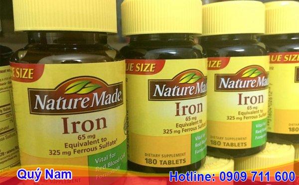 Thuốc bầu Mỹ Nature Made Iron 65mg