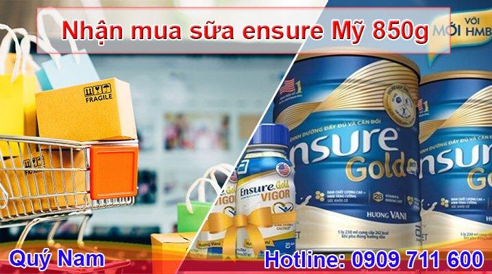 Order trực tiếp sữa Ensure Mỹ 850g