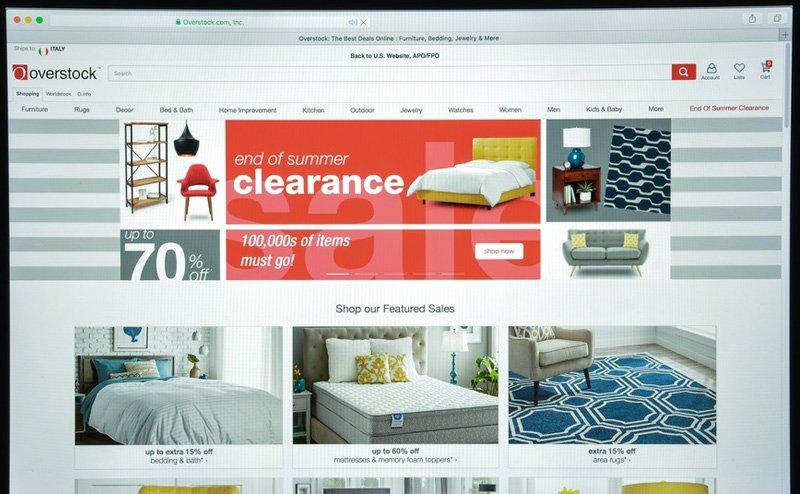 Web bán đồ cũ ở Mỹ - Overstock