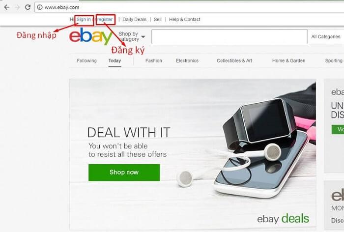 đấu giá trên ebay