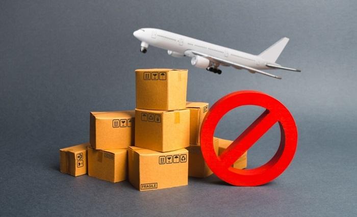 những mặt hàng không được gửi sang mỹ